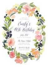 Watercolor Floral Party Invitations by Yao Cheng | Minted