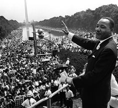 Martin Luther King Jr. during his 'I have a Dream' speech at the Lincoln Memoria