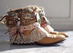 upcycled boho cowboy boots from TheLookFactory on Etsy