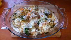 Zapiekanka rybna z ryżem i warzywami