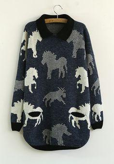love this animal print sweater..