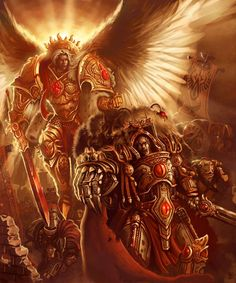 wh40khq:  Brother Primarchs by ~Vanagandr | Sanguinius and Horus go to war