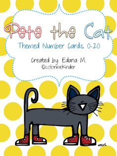 Pete the Cat Number Cards