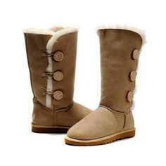 Australia Ugg Chaussures Femme Bailey Button Triplet Sable