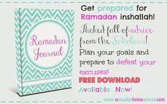 a muslim homeschool: Ramadan Journal