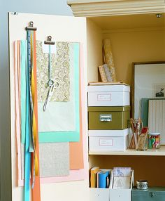 Wish I had an armoire like this for all my grift wrapping stuff, cards, etc.