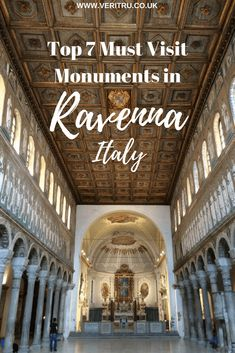 Ravenna, Italy - Home of the most beautiful mosaics! Top 7 Must Visit Monuments in Ravenna is best known for it's range of beautiful mosaics of which there are many! Here's my route to view the best monuments in Ravenna including Basilica di Sant'Apollinare Nuovo, Battistero Neoniano, Mausoleo di Galla Placidia, Archiepiscopal Museum, Battistero degli Ariani, Basilica di San Vitale and Dante's Tomb. - Veritru