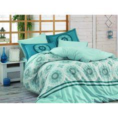 Lenjerie de pat dublu din Bumbac 100% Poplin Silvana Blue Poplin, Comforters, Home Improvement, Home And Garden, Home Appliances, Blanket, Bedroom, Toys, Blue