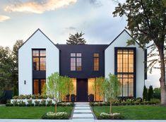 Farmhouse Architecture, Modern Farmhouse Exterior, Architecture Details, Mountain Home Exterior, Dream House Exterior, Beverly Hills, Mediterranean Homes Exterior, Townhouse Exterior, Modern House Floor Plans