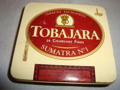 Vintage Tobajara Sumatra No 1  Cigarette Tin