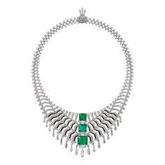 Cartier Magicien Oracle Colombian emerald necklace                              …