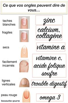What your nails can say about you and your nutritional deficiencies via Ebon . - What your nails can say about you and your nutritional deficiencies via Ebony Ellis-pure - Pure Beauty, Beauty Care, Beauty Hacks, Health And Beauty Tips, Health Tips, Health And Wellness, Fingernail Health, Tips Belleza, Health Remedies