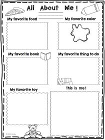 all about me preschool template | 6 Best Images of All About Me ...
