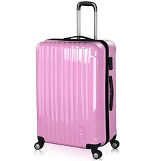 TRAVEL Luggage Suitcase Hard Shell AP9 Black Purple lightweight 4 ...