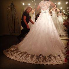 #vestido #noiva #bride #dress #weddding #lace #embroidery