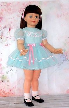 Vintage-Nylon-DOTTED-SWISS-ENSEMBLE-in-LIGHT-AQUA-for-35-Ideal-PATTI-PLAYPAL Doll Clothes, Harajuku, Aqua, Dots, Glamour, Best Deals, Vintage, Fashion, Stitches