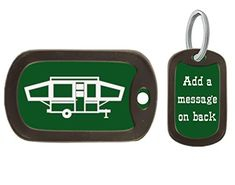 Find best price for Pop Up Camper Key Chain, Birthday Gift, Camping Accessory. Explore our Boys Fashion section featuring new #shopping ideas of the best collection of #BoysFashion #BoysAccessories and #fashion products online at #Jodyshop Marketplace. Boys Accessories, Camping Accessories, Engraved Dog Tags, Custom Dog Tags, Camping Gifts, Online Fashion Stores, Custom Engraving, Pop Up, Camper