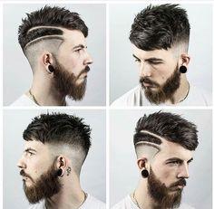 Men Hair Styles, Hairstyle Men, Boy Hair, Hair Designs, Body Mods, Beards,  Haircuts, Hair Looks, Dios