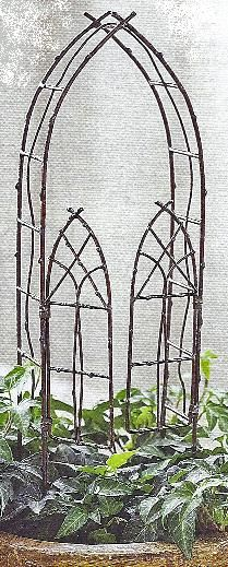 garden gate.. You could easily DIY w/ twigs hot glue gun & patience- fairly basic; I'd start w/ the outside & work inward.