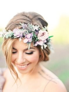 Ethereal Lavender Field Wedding Inspiration - Style Me Pretty #weddingcrowns