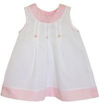 Fine white and pink embroidered girls dress - Carousel Wear