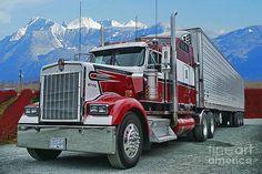 Big Rig Wall Art - Photograph - B. Big Rig Weekend by Randy Harris Peterbilt 359, Kenworth Trucks, Custom Big Rigs, Custom Trucks, Semi Trucks, Big Trucks, Truck Transport, Trailers, Heavy Truck