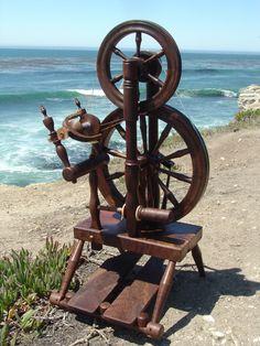 "Carson Cooper ""Quincy"" spinning wheel. Figured Claro Walnut."