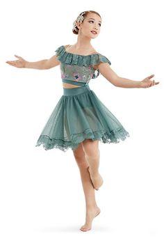 d3ebfbb69 Flounce Crop Top with Skirt | Weissman® Dance Costumes Ballet, Cute Dance  Costumes,