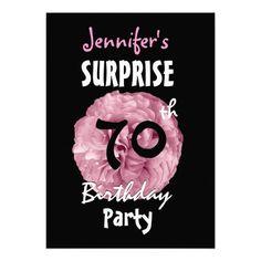 Custom 70th SURPRISE Birthday Party Invitation