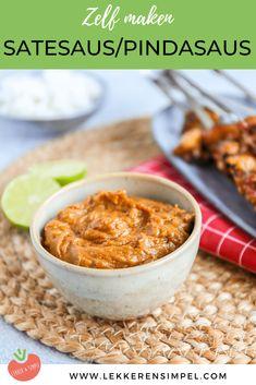 Satesaus recept - een lekkere pindasaus - Lekker en Simpel