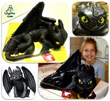 Toothless the Dragon Cake