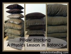 Pillow Stacking: A Physics Lesson in Balance