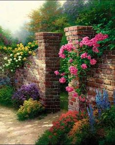 The Rose Garden | Artist:Thomas Kinkade