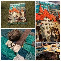 Biennale des Arts textiles contemporains du 6 au 15 octobre 2017 à CH- 1580 Avenches – 2ème édition | Eloge du Fil Picnic Blanket, Outdoor Blanket, Textiles, Art Textile, Arts, Les Oeuvres, Anime, Week End, Decor