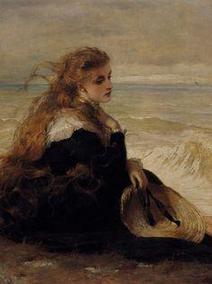 ⛵⊱Women ⚓ of salt air⊰⛵ . George Elgar Hicks - On the Seashore (cropped for detail)