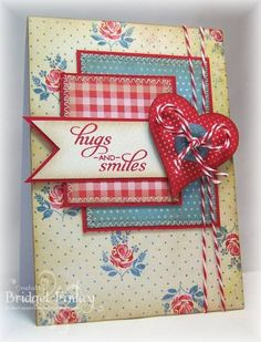 Valentine Hugs by bfinlay - Cards and Paper Crafts at Splitcoaststampers Pretty Cards, Love Cards, Paper Cards, Diy Cards, Stampin Up, Card Making Inspiration, Card Sketches, Copics, Valentine Day Cards