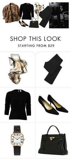 """""""Untitled #369"""" by inlateautumn ❤ liked on Polyvore featuring Tiffany & Co., Danier, Superfine, Oscar de la Renta, Yves Saint Laurent, Hermès and Serge Lutens"""