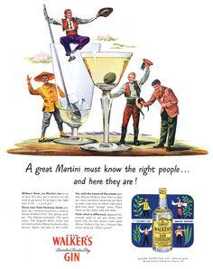 Hiram Walker's Gin ad - 1947
