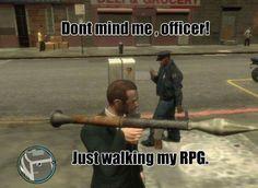 When a gangster walks in GTA..:D