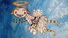 Kids Christmas, Christmas Gifts, Angel Kids, Holy Cross, Arts Ed, Winter Art, Angel Art, Art Activities, Art Lessons