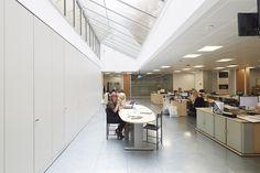 Foor to ceiling storage walls are great in an open plan office.  www.jbhrefurbishments.co.uk