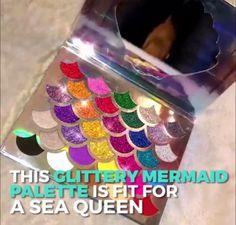 Mermaid Glitter eyeshadow Pallete mermaid eyeshadow pallete sale share with mermiad lovers Cute Makeup, Diy Makeup, Makeup Art, Beauty Makeup, Makeup Tips, Makeup Goals, Makeup Inspo, Makeup Pallets, Mermaid Glitter