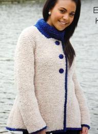 Wendy 5500 a womans chunky yarn knitting pattern jacket Chunky Knitting Patterns, Knitting Yarn, Swing Coats, Chunky Yarn, Jacket Pattern, Garter Stitch, Knit Jacket, Sweater Cardigan, Turtle Neck