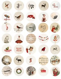 Digital collage card set created from vintage ephemera. For Christmas!