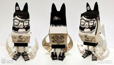 Blog Paper Toy papertoy Phidias Gold Nathan Trapnell pic PHIDIAS GOLD Paper Toys (x30 !!!)