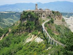 Civita di Bagnoregio, Italy. This city has 16 residents. One of the greatest places I saw while in Italy.