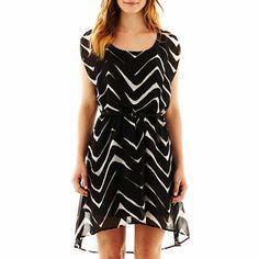 Love Reigns Chevron Print High-Low Dress - jcpenney
