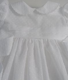 White Dotted Swiss Dress by patriciasmithdesigns on Etsy