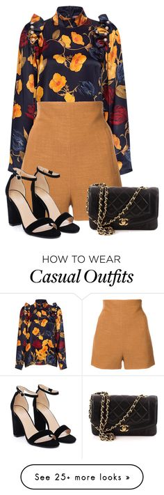 """Casual Date Night"" by alyssawhite99 on Polyvore featuring Mother of Pearl, Rosetta Getty, Nasty Gal and Chanel"