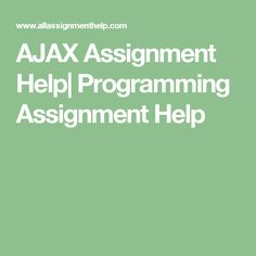 AJAX Assignment Help| Programming Assignment Help